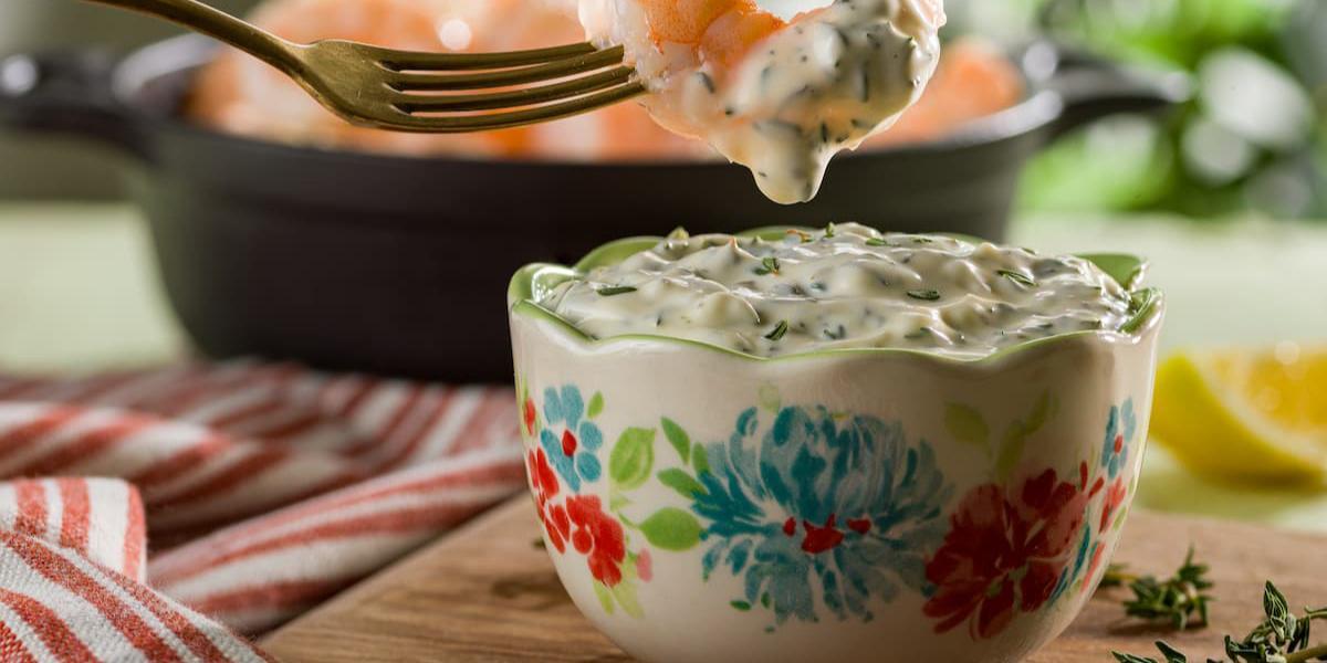 Camarones al horno con mayonesa de oliva y limón