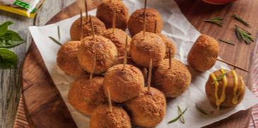 Chicken Almonds Lollipops