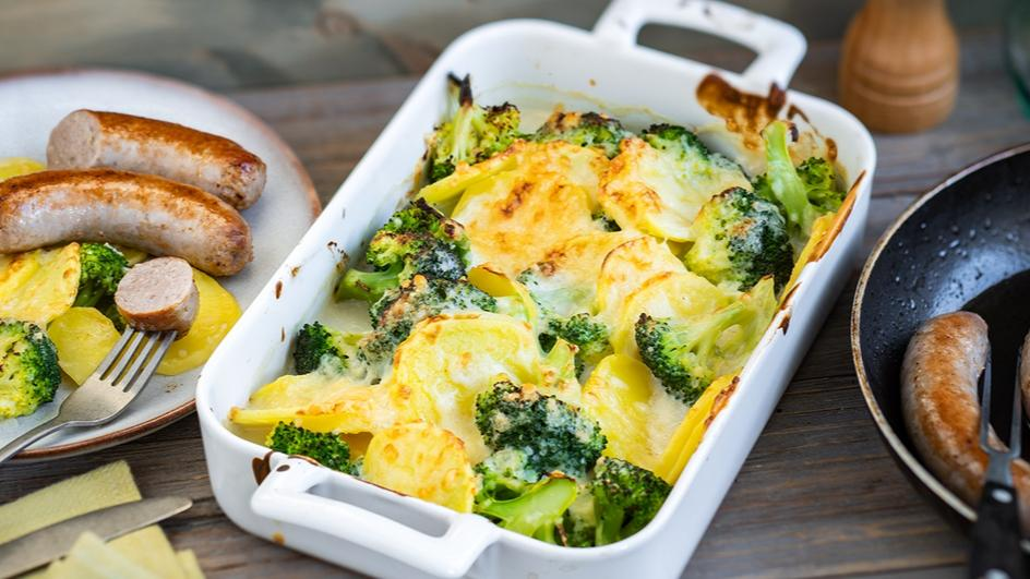 Kartoffel-Gratin Brokkoli