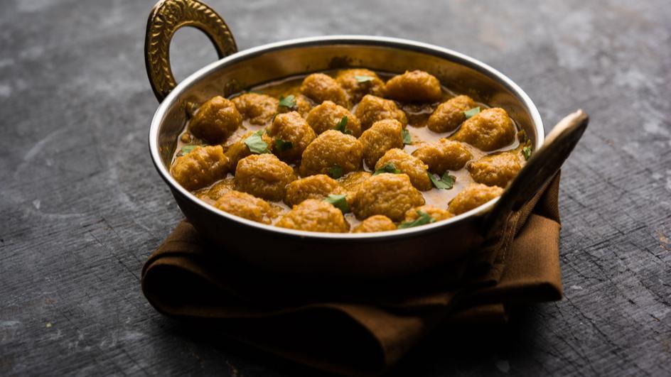 Soya Nuggets Curry Recipe