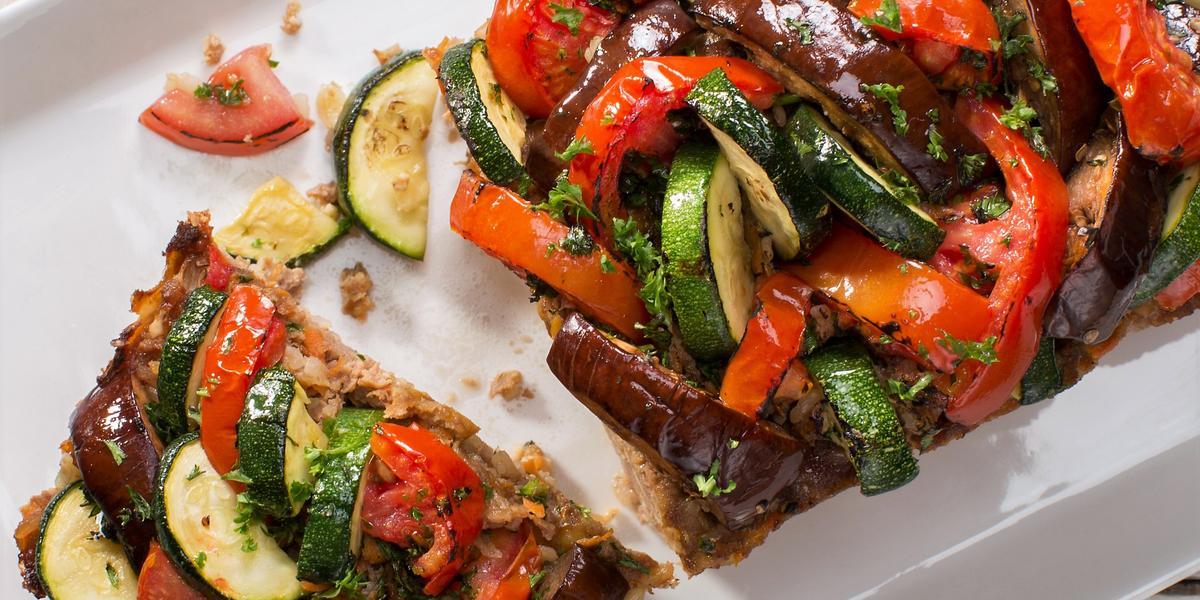 Pastel de Carne tope de verduras