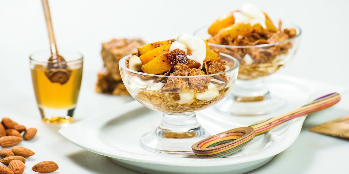 Duraznos Dorados con Cereales y Ka'i Ladrillo