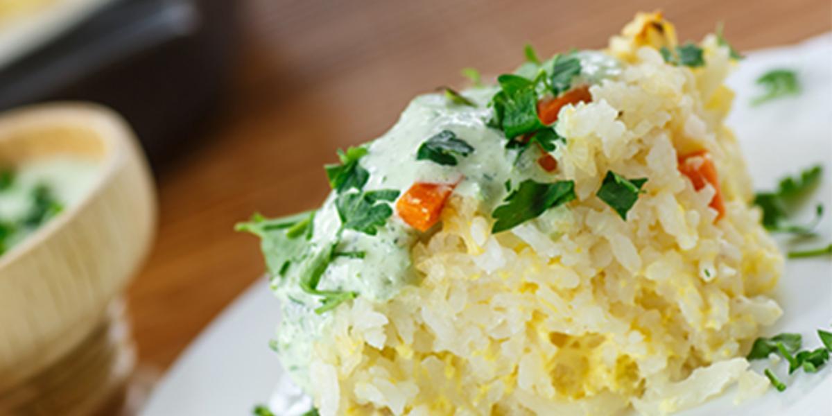 Lasaña de arroz y pollo