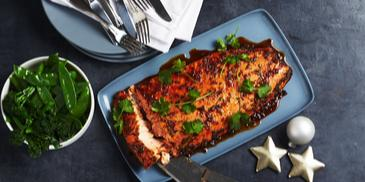 Honey, Soy & Ginger Baked Side Of Salmon