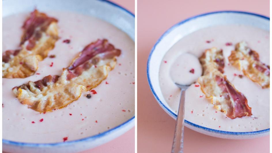 Zupa z rzepy z chrupiącym boczkiem