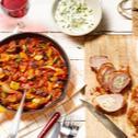 Gefülltes Schweinefilet mit Ratatouille-Gemüse