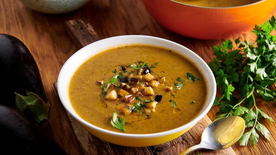 Zupa krem z bakłażana