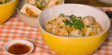 Quick MAGGI Mi Kari with Chicken Meatballs