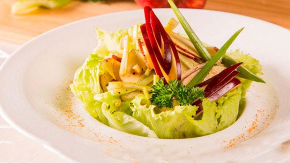 Apple & Celery Salad with Curry Vinaigrette