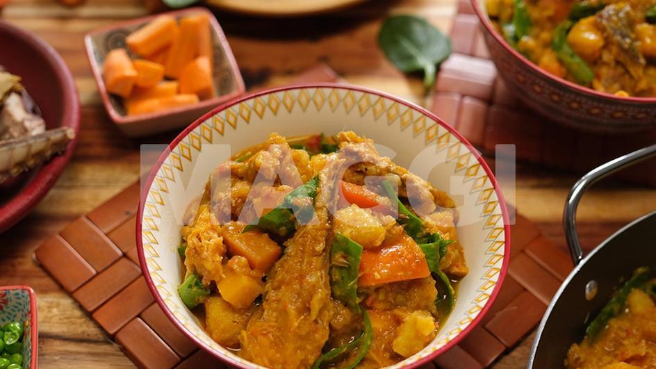 Ragoût de patate douce aux légumes mix