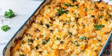 Zapečené těstoviny se sýrem (mac´n´cheese)