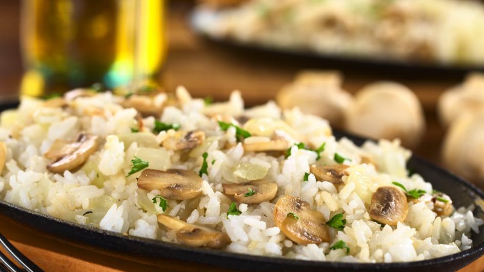 Chilli Mushroom Fried Rice Recipe