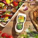 Mix pieczonych warzyw z grzankami z salsą z pietruszki