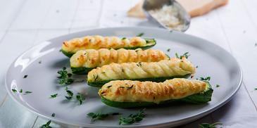 Κολοκυθάκια με πουρέ πατάτας