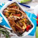 Παϊδάκια στο φούρνο με λαχανικά και μυρωδικά