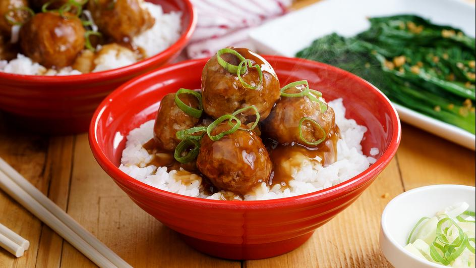 Chiftelute de pui cu orez