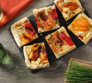 Torta feta e peperoni