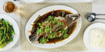 Steamed Fish with Chopped Ginger and Spring Onion