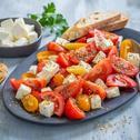 Tomatensalat mit Schafskäse