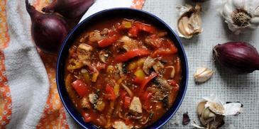 Zupa strogonow z wołowiną
