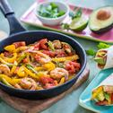 Garnelen Fajita mit Avocado