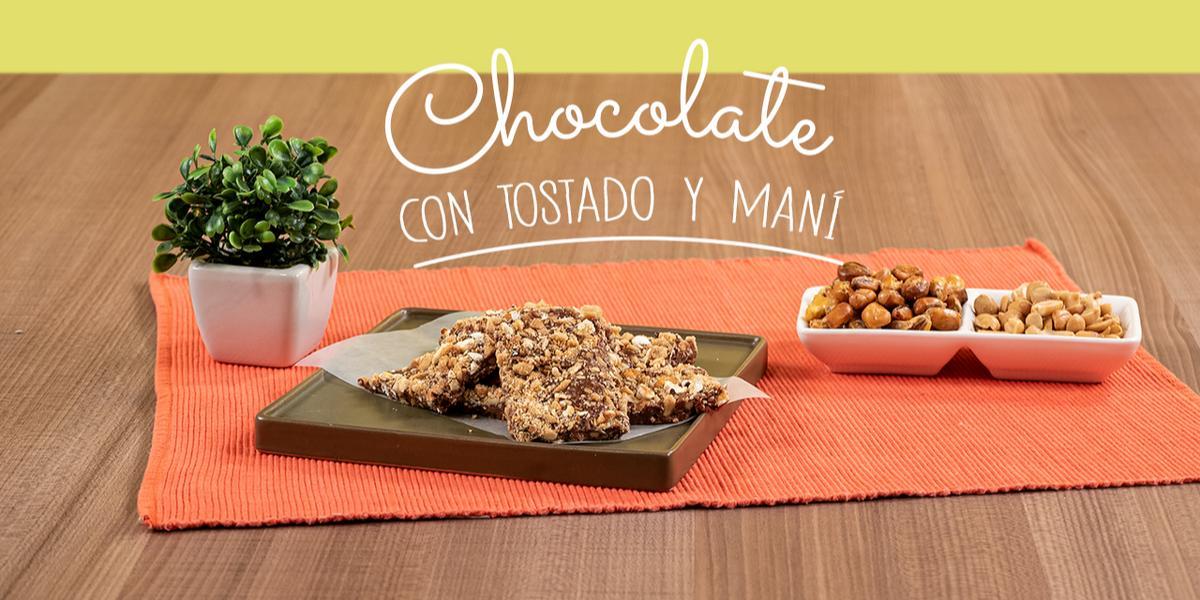 CHOCOLATE CON TOSTADO Y MANI
