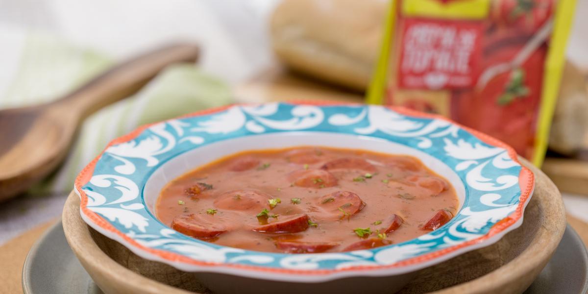 Crema de Tomate con Chorizo