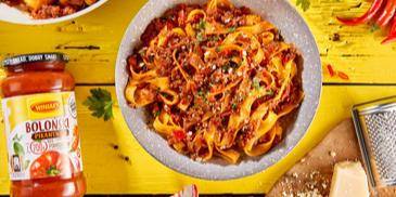 Pikantne spaghetti bolognese