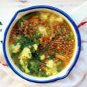 Zupa zimowa z mrożonych warzyw i kaszą gryczaną