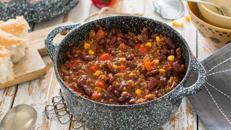 Chili con Carne mit Paprika und Mais