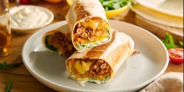 Burrito z kaszą i wołowiną