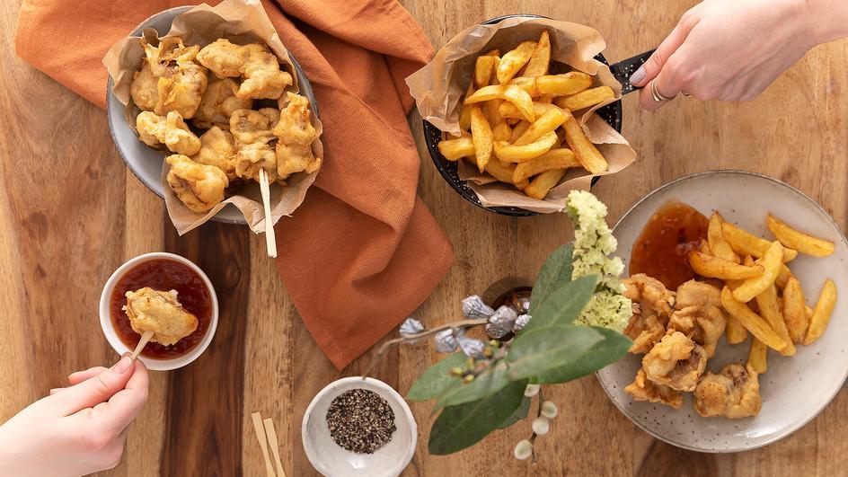Fish und Chips mit Dip