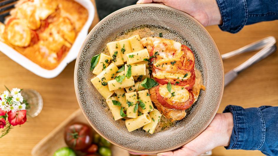 Tomate-Mozzarella Putenschnitzel