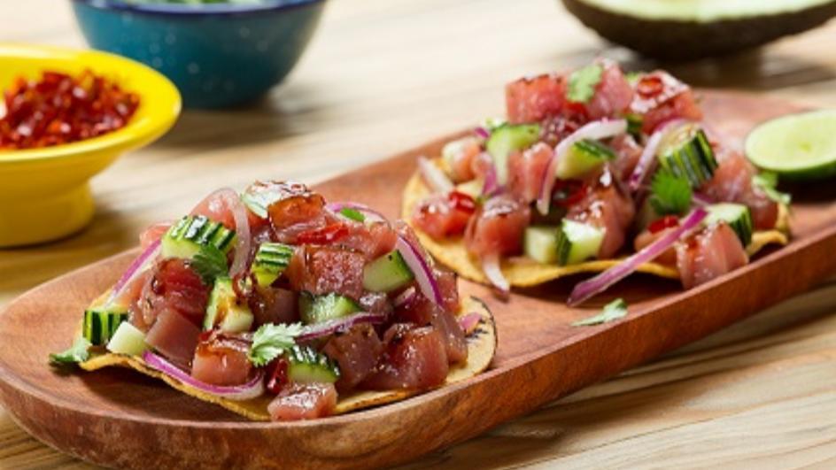 Meksykańskie ceviche z tuńczyka