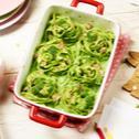 Broccoli-Nudelnester mit Schinken