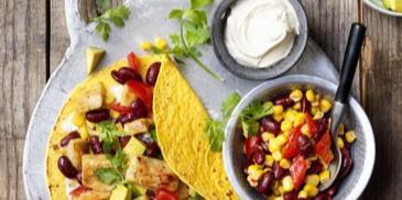 Mexická tortilla s Garden Gourmet Veggie rezančekmi