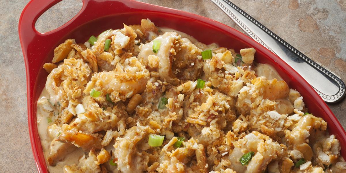 Garlicy Shrimp Crunch Casserole