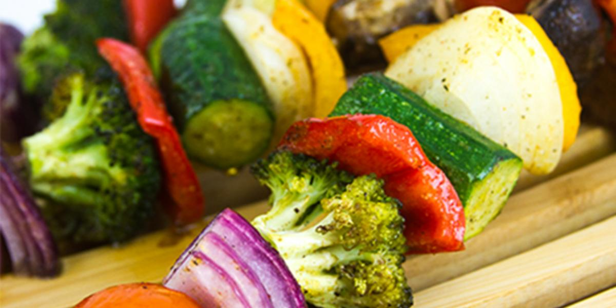 Brochetas de vegetales