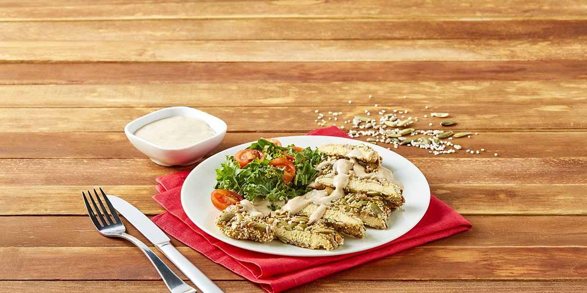 Pollo con semillas en salsa especiada