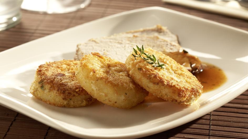 Gebratene Parmesan-Knödel-Taler