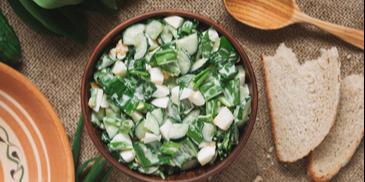 Salata de leurda cu ou