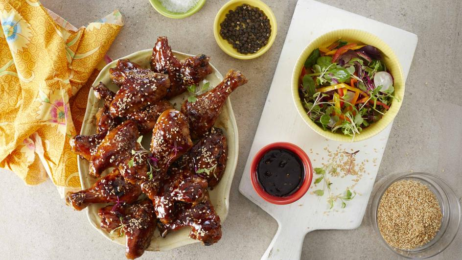 Sweet & Sticky Chicken wings and Drumsticks