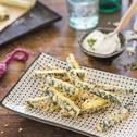 Zucchini-Parmesan-Sticks mit Panko Panade