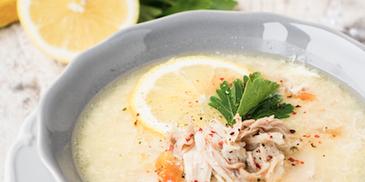 Řecká Vánoční polévka Avgolemono