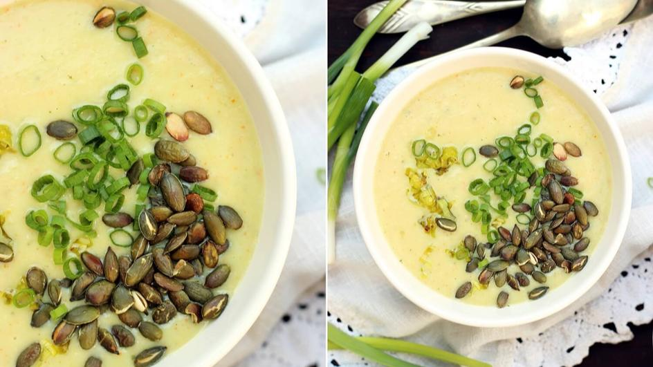Zupa krem z pora i cebuli