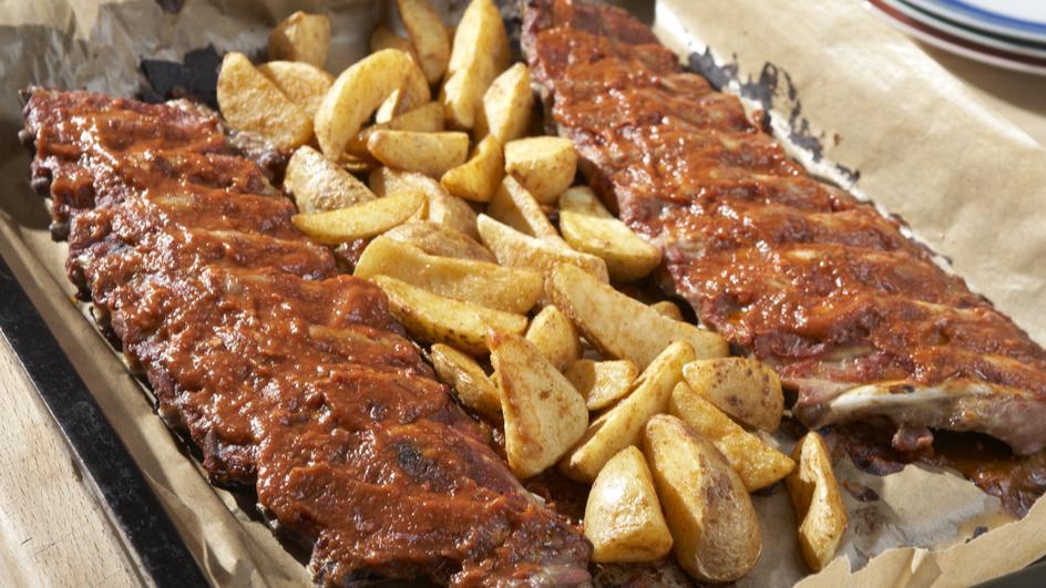 Schweinerippchen mit BBQ Sauce