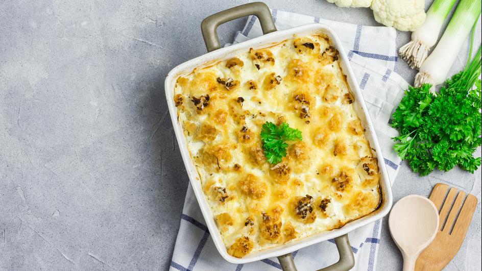 Zapečeni karfiol sa 4 vrste sira