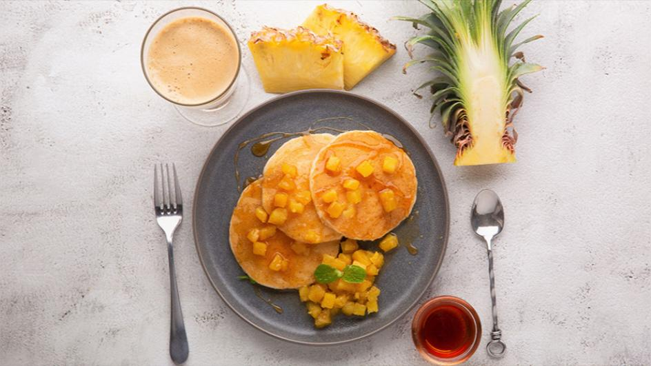 MAGGI Pancakes and Stewed Pineapples