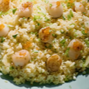 Scallop Fried Rice With Fish Roe