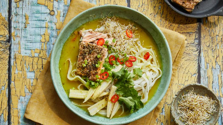Tailando įkvėpta sriuba su lašiša
